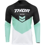 Thor Sector Jersey Chev Black-Mint 2022