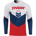 Thor Sector Jersey Chev Red-Navy 2022