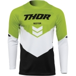 Thor Sector Jersey Chev Black-Green 2022