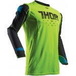 Thor Prime Fit™ Shirt Rohl Flo Green-Black 2017-2018 # SALE