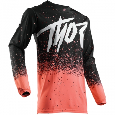 Thor Pulse™ Shirt Hype Coral-Black Spring Release 2018