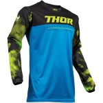 Thor Pulse Air Jersey Acid Electric Blue-Black 2019 # SALE
