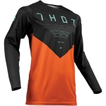 Thor Prime Pro Jersey Jet Black-Red Orange 2019 # SALE