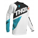Thor Sector Jersey Blade White-Aqua 2020 2XL # SALE