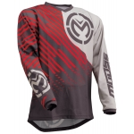 Moose Racing Qualifier Jersey Charcoal-Gray-Red 2020