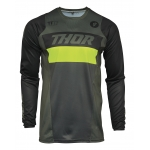 Thor Pulse Jersey Racer Army Green-Acid 2021