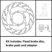 Moto-Master ∅260 Flame Brake Disc Kit Honda front