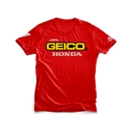 100% Team Geico Honda T-Shirt Standard red