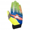 Alpinestars Aviator Handschuhe Blue-Yellow Fluo-Red 2017 # SALE