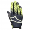 Alpinestars Youth Radar Gloves Flight Anthracite-Yellow Fluo-Light Grey Kids 2017
