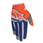 Alpinestars Youth Radar Handschuhe Flight Fluo Orange-Dark Blue-White Kids 2018