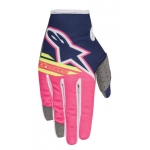 Alpinestars Youth Radar Handschuhe Flight Dark Blue-Fluo Pink-White Kids 2018