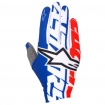 Alpinestars Dune Gloves Blue-White-Red 2017