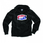 100% Official Zip-Hoody Black