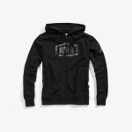 100% Syndicate Zip-Hoody Black-Black Foil