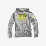 100% Syndicate Zip-Hoody Grey Heather