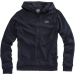 100% Zip Hoody Solid Navy