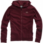 100% Zip Hoody Solid Burgundy