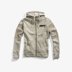 100% Emissary Zip-Hoody Warm Grey