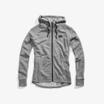 100% Stratosphere Zip-Hoody Tech Fleece Heather Grey