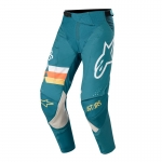 Alpinestars Techstar Pants Venom Petrol-White-Orange Fluo 2020