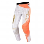 Alpinestars Techstar Pants Factory Metal White-Orange Fluo-Gold 2020