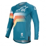 Alpinestars Techstar Jersey Venom Petrol-White-Orange Fluo 2020