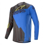 Alpinestars Techstar Jersey Factory Black-Dark Blue-Yellow Fluo 2020