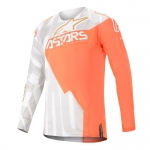 Alpinestars Techstar Jersey Factory Metal White-Orange Fluo-Gold 2020