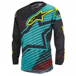Alpinestars Youth Racer Shirt Braap Teal-Black-Yellow Fluo Kids 2017 # SALE