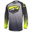 Alpinestars Youth Racer Jersey Supermatic Anthracite-Yellow Fluo-Light Grey Kids 2017 # SALE