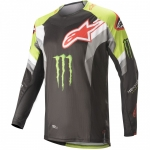 Alpinestars Techstar Jersey Factory ET Black-Bright Green-Red 2020 Monster MX Collection