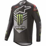 Alpinestars Racer Tech Jersey Ammo Black-Gray-Bright Green 2020 Monster MX Collection