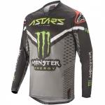 Alpinestars Racer Jersey Raptor Black-Gray-Bright Green 2020 Monster MX Collection