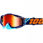 100% Racecraft Goggle Calculus Navy Mirror 2018