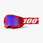 100% Youth Accuri 2 Goggle Neon Red red/blue mirrror Junior 2021