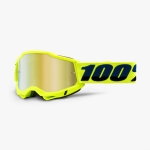 100% Youth Accuri 2 Goggle Fluo Yellow gold mirror Junior 2021