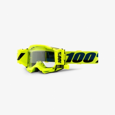 100% Accuri 2 Forecast® System Goggle Fluo Yellow clear 2021
