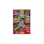 Blackbird Racing Sponsor Logo Kit C Sticker Sheet
