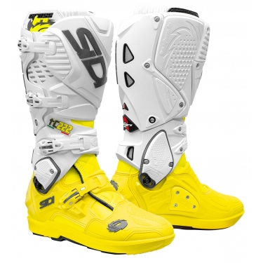 Sidi Crossfire 3 SRS Boots TC 222 Fluo Yellow-White