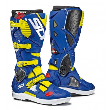 Sidi Crossfire 3 SRS Boots Yellow Fluo-Blue