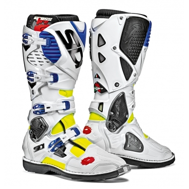 Sidi Crossfire 3 Boots Fluo Yellow-White-Blue