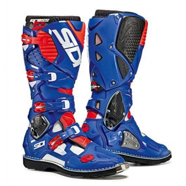 Sidi Crossfire 3 Boots White-Blue-Fluo Red