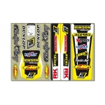 Blackbird Racing Standard Sticker Sheet yellow