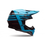 Bell Moto-9 Carbon Flex Helm Blocked Blue