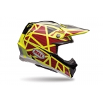 Bell Moto-9 Carbon Flex Helm Strapped Yellow-Black