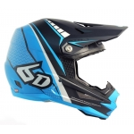 6D Helm ATR-1 Edge neon blue-matte grey 2017