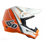 6D Helm ATR-1 Edge neon orange-matte white 2017