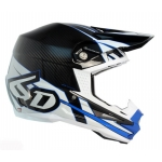 6D Helm ATR-1 Carbon Electric blue-white 2017