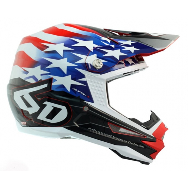 6D Helm ATR-1 Patriot red-white-blue 2017